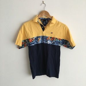 Tommy Hilfiger polo shirt color block Hawaii